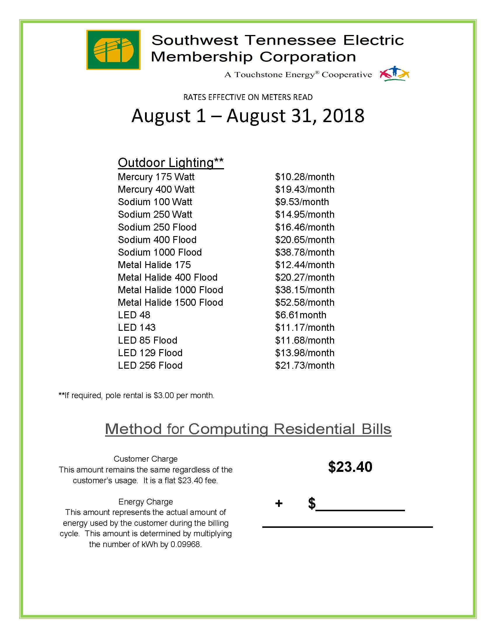 August 2018 Rates pg 2