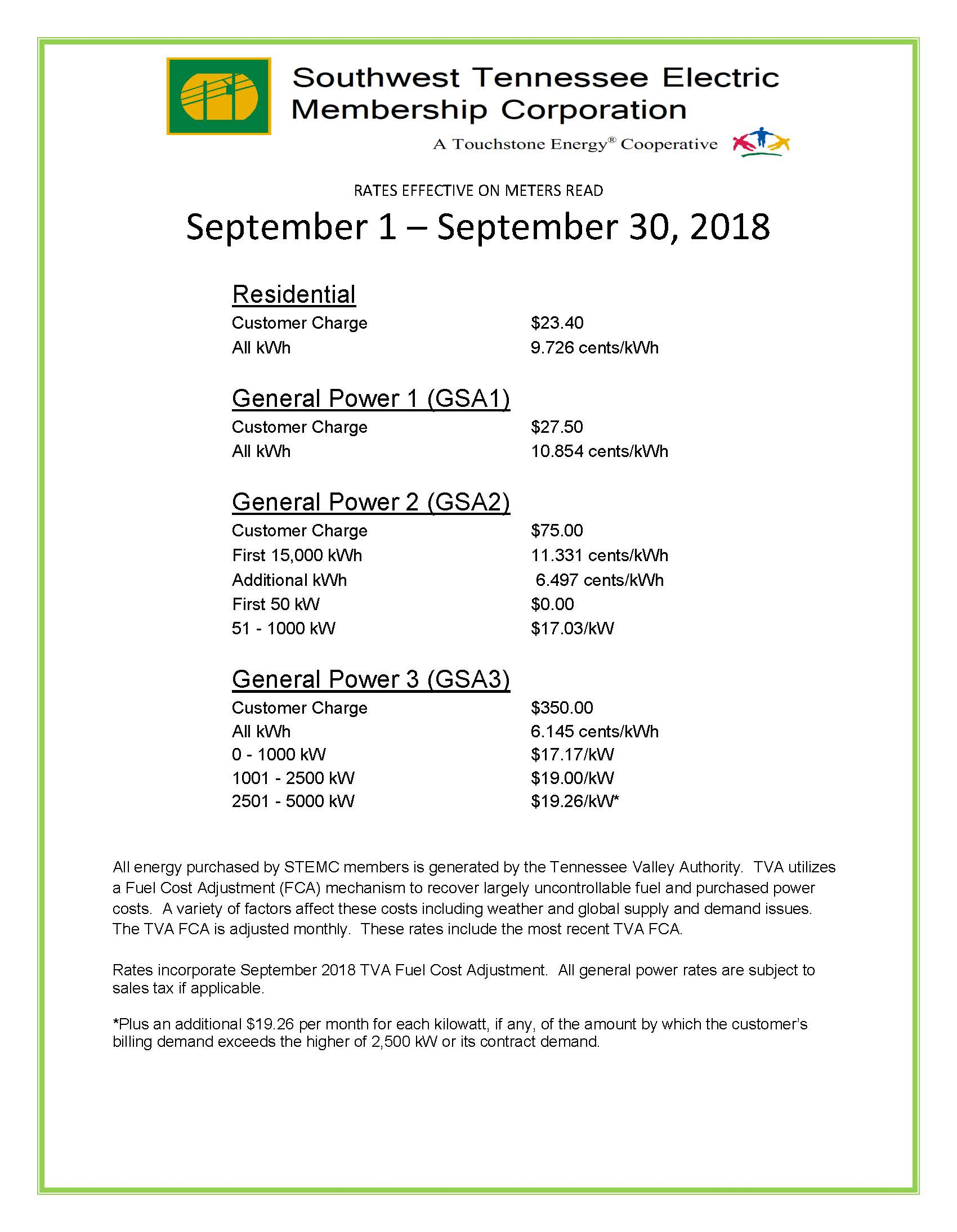 September 2018 Rates pg 1