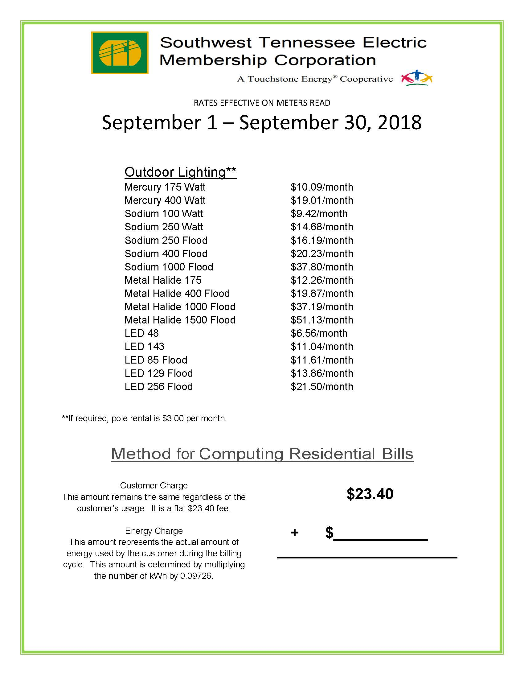 September 2018 Rates page 2