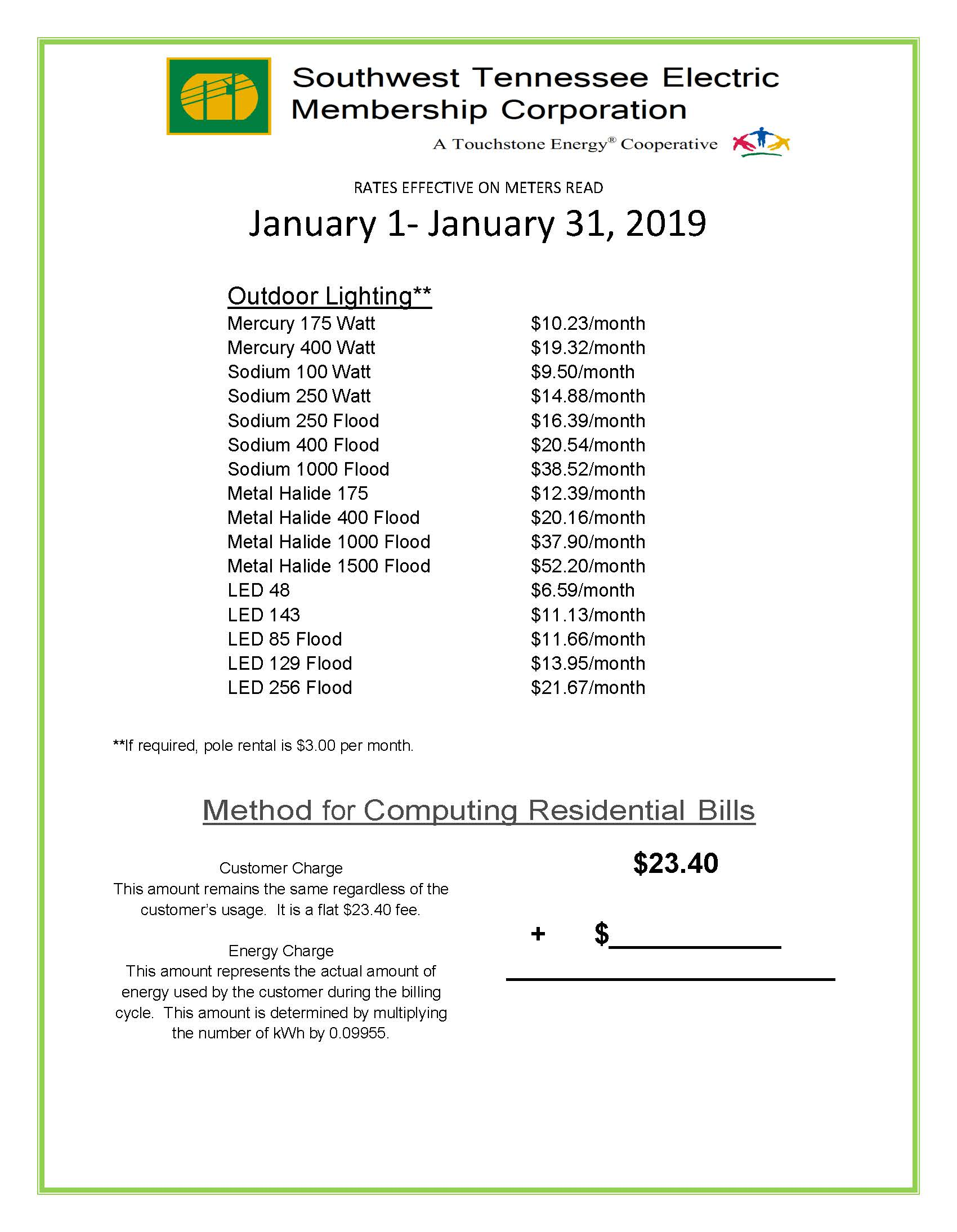 January 2019 Rates page 2